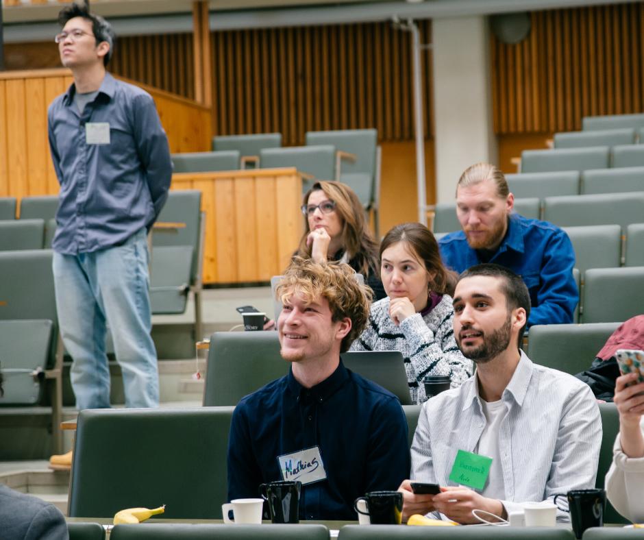 Seminar audience smiling