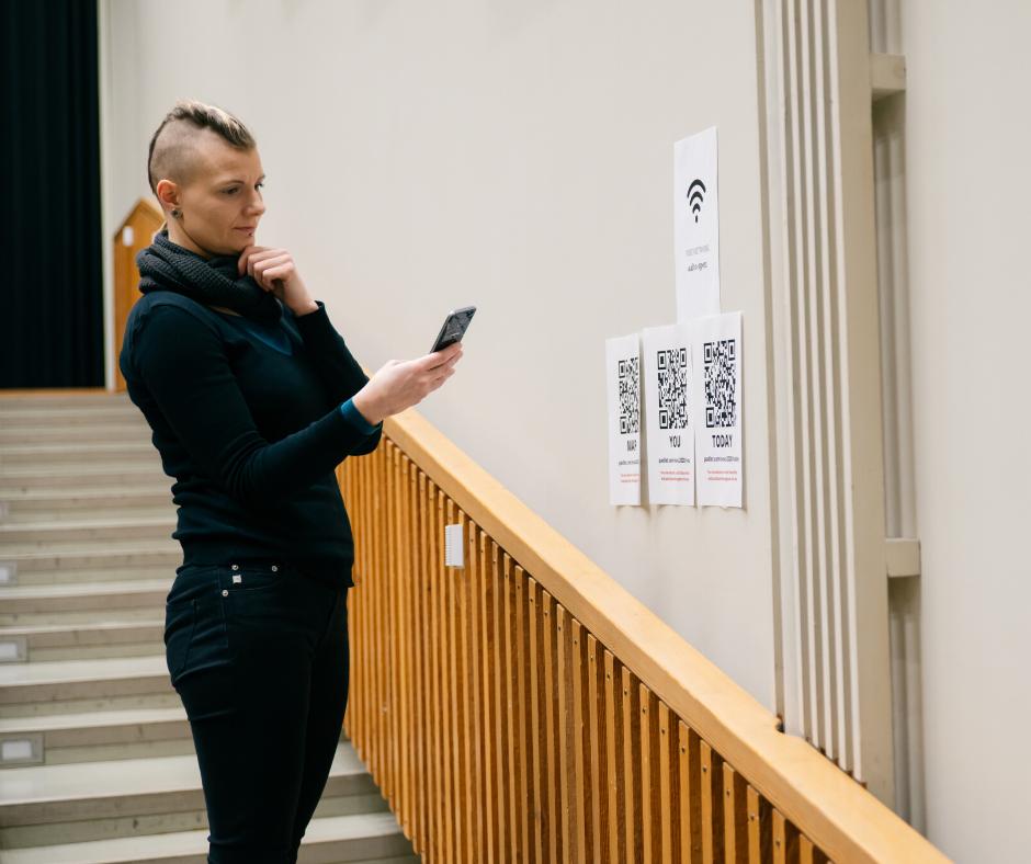 Seminar visitos scanning QR-code